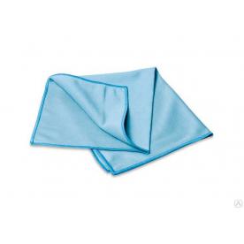 Салфетка из микрофибры для стекла голубая 40х40см 280г/м2 4536CCC