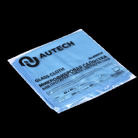 Салфетка для стекол голубая комплект AuTech 300гр 40х40см 2шт Au-6900/2